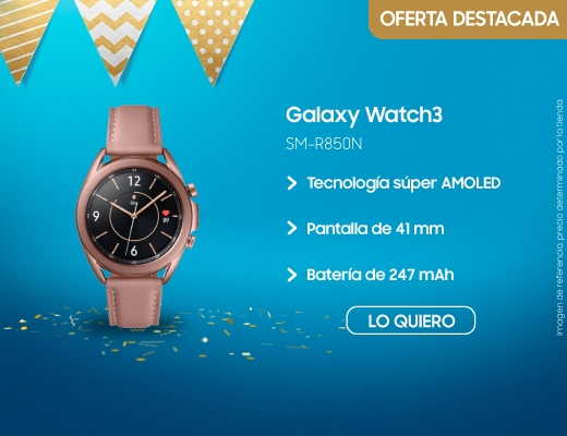 Galaxy Watch3 41mm, samsung galaxy watch, galaxy watch, watch, galaxy watch 3, relog inteligente, smart watch, samsung, samsun, SM-R850N