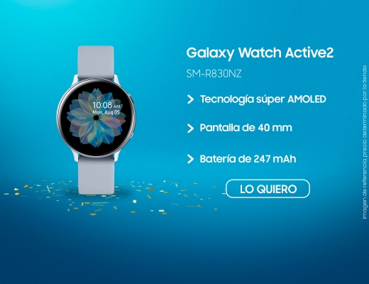 Galaxy Watch Active2 40mm, galaxy watch, samsung galaxy watch, reloges, relog inteligente samsung, relog inteligente, smart watch, samsung smart watch, samsung, samsun,  SM-R830NZ