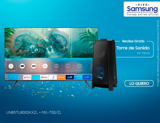 "TV 85"" Smart Crystal UHD 4K + Giga Party Audio T50, combos, televisores, tv85."