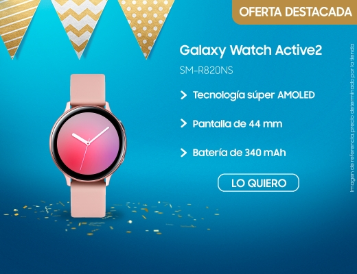 Galaxy Watch Active2 44mm, galaxy watch active, samsung galaxy watch, reloj, reloj inteligente, smart watch, samsung smart watch, smasung, samsun, watch active, watch active 2, active2, SM-R820NS, SM-R820NZ