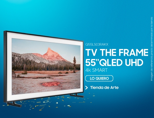 Q55LS03RAKX, TV THE FRAME 55'' QLED UHD 4K Smart, tv, the frame, frame, qled, uhd, 4k, smart, smart tv, tv the frame, tv55, tv de 55 pulgadas, televisor, televisores.